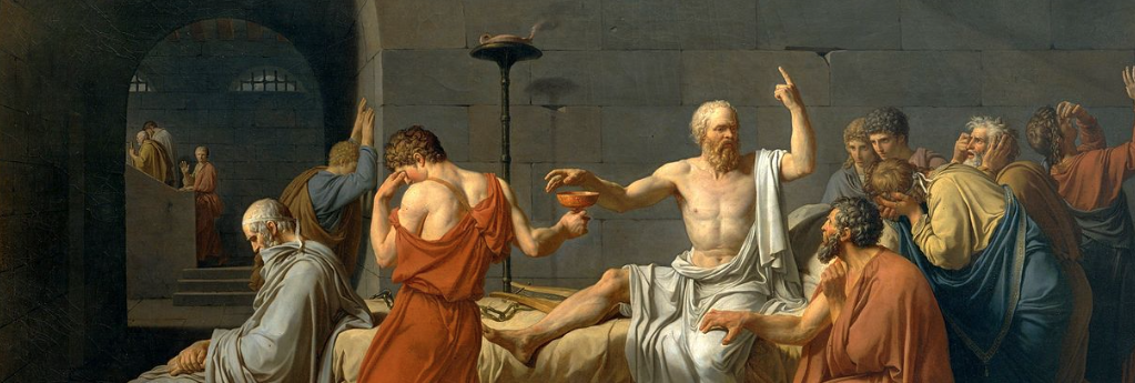 Painting of the famous Socrates dying. Which other philosophers deaths are so important they are painted by one of the greats?